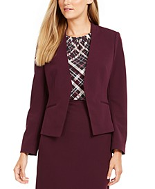 Collarless Open-Front Jacket