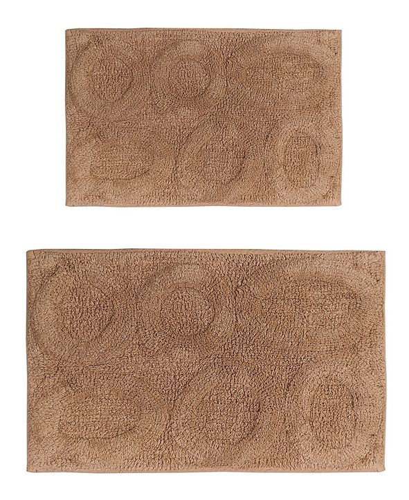 "Perthshire Platinum Collection Pebble 21"" x 34"" and 24"" x 40"" 2-Pc. Bath Rug Set"
