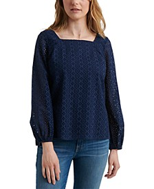 Liane Cotton Eyelet Top