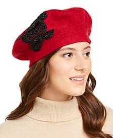 August Hats Appliqué Melton Beret