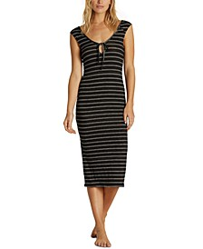 Juniors' Share Alike Striped Midi Dress