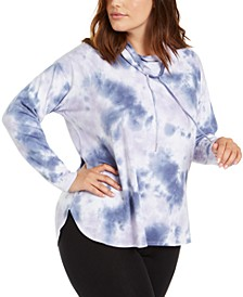 Plus Size Tie-Dyed Sweatshirt