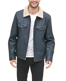 Levi's® Men's Faux-Leather Trucker Jacket