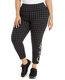 Calvin Klein Plus-Size Printed Logo Leggings