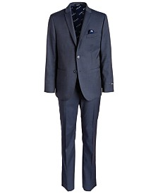 DKNY Big Boys Classic-Fit Stretch Navy Blue Neat Suit Separates
