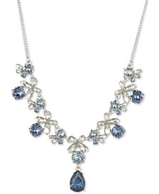 "Givenchy Crystal Flower Statement Necklace, 16"" + 3"" extender"