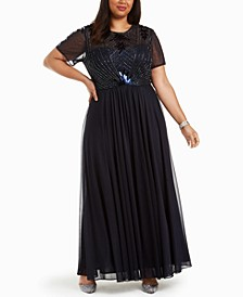 Plus Size Beaded Gown