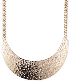"Gold-Tone Pavé Statement Necklace, 16"" + 3"" extender"