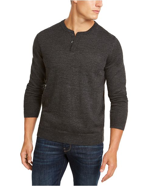 Club Room Men's Henley Sweater, Created for Macy's