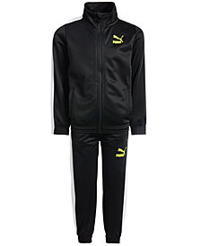 Puma Little Boys 2-Pc. Tricot Jacket & Pants Set