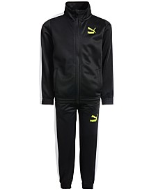 Puma Toddler Boys 2-Pc. Tricot Jacket & Pants Set