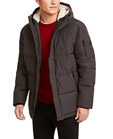Men's Short Parka with Sherpa Hood, Created for Macy's