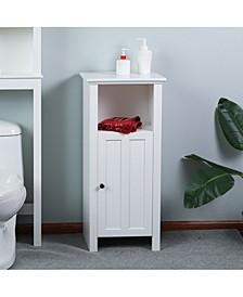 Wood Floor Bathroom Cabinet