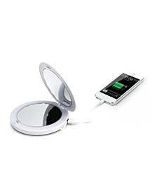 TOUCHBeauty LED Compact Mirror with Power Bank
