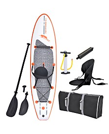 Blue Wave Sports Stingray 10' Inflatable Stand Up Paddleboard with Paddle and Hand Pump
