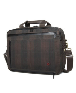 The waxed briefcase is the It bag to bring to your office. Grab it and go or use the shoulder strap to carry it over your shoulder. This bag features a front pocket for easy access to your belongings.
