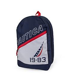 Nautica J-Class Flag Diagonal Zip Backpack