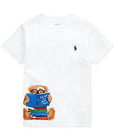 Polo Ralph Lauren Toddler Boys Reading Bear Cotton T-Shirt