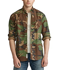 Men's Big & Tall Printed Oxford Camouflage Sport Shirt