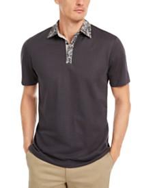 Tasso Elba Men's Contrast-Collar Polo Shirt, Created for Macy's