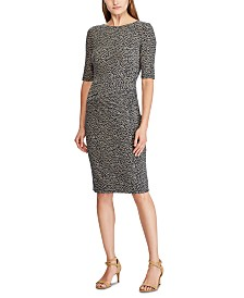 Lauren Ralph Lauren Petite Botanical-Print Jersey Dress