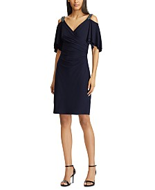 Lauren Ralph Lauren Petite Beaded-Strap Cocktail Dress