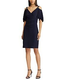 Lauren Ralph Lauren Petite Beaded-Strap Cocktail Dress