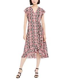 Snakeskin-Print Dress
