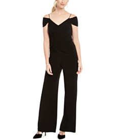 Adrianna Papell Shirred Wrap Jumpsuit