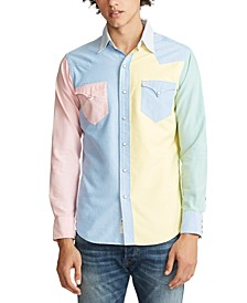 Men's Custom Fit Western Fun Oxford Shirt