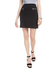 Bar III Zip-Trim Mini Skirt, Created for Macy's