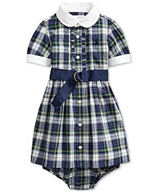 Baby Girls Plaid Madras Shirt Dress