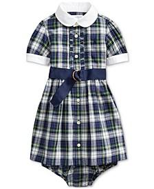Baby Girls Plaid Madras Shirt Dress