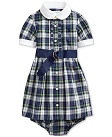 Polo Ralph Lauren Baby Girls Plaid Madras Shirt Dress