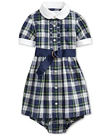 Polo Ralph Lauren Baby Girls Plaid Madras Shirt Dress