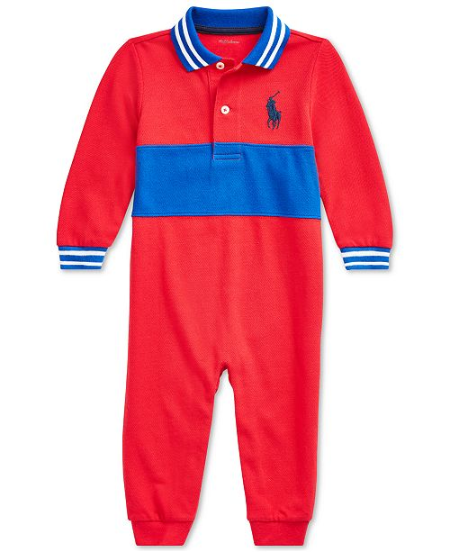 Polo Ralph Lauren Baby Boys Basic Mesh Novelty Coverall