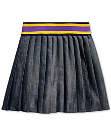 Little Girls Twill-Pleated Cotton Skirt