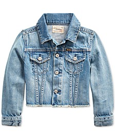 Little Girls Denim Polo Jacket