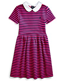Little Girls Knit Stripe Dress