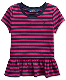 Little Girls Stripe Cotton Shirt