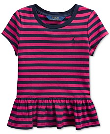 Polo Ralph Lauren Little Girls Stripe Cotton Shirt