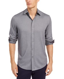 Tasso Elba Men's Birdseye-Knit Shirt, Created for Macy's