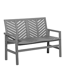Outdoor Chevron Love Seat