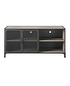 Industrial Metal and Wood TV Stand