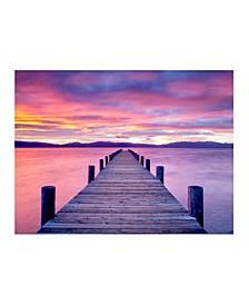 "Collection - Sunrise On Lake Tahoe Canvas Art, 24"" x 18"""