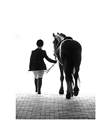 A Girl And Her Horse Canvas Art, 54 x 36