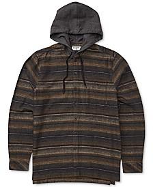 Billabong Men's Baja Stretch Stripe Hooded Flannel Shirt