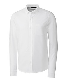 Cutter and Buck Men's Big and Tall Reach Oxford Button Front Long Sleeves Shirt