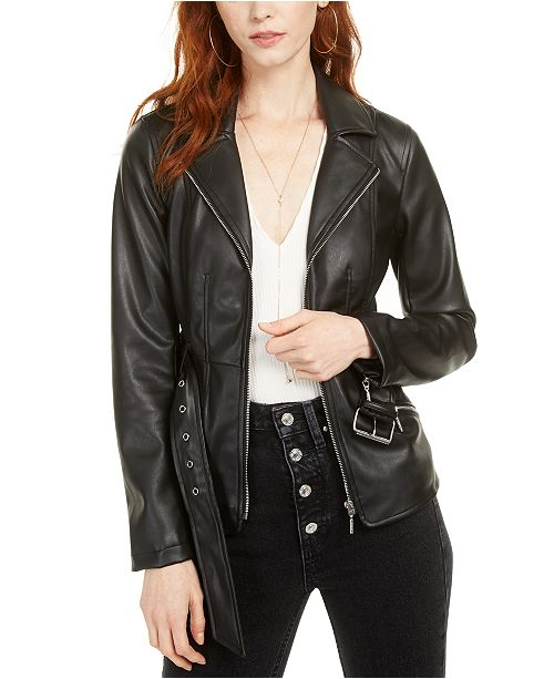 GUESS Teona Faux-Leather Jacket