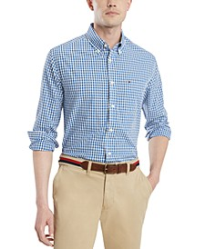 Men's Classic Fit Twain Check Shirt, Created for Macy's